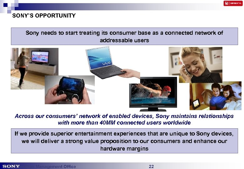 SONY'S OPPORTUNITY Sony needs to start treating its consumer base as a connected network