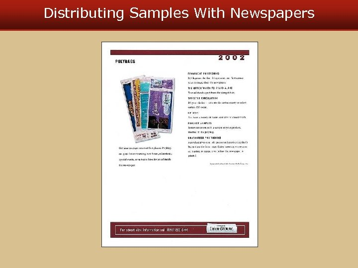 Distributing Samples With Newspapers