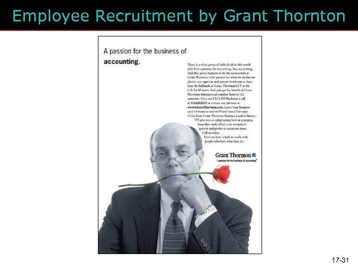 Employee Recruitment by Grant Thornton 17 -31