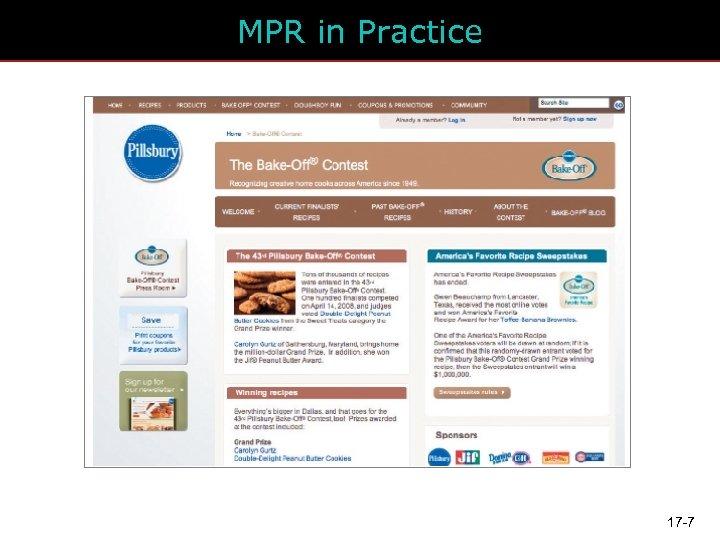 MPR in Practice 17 -7