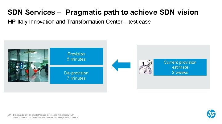 SDN Services – Pragmatic path to achieve SDN vision HP Italy Innovation and Transformation