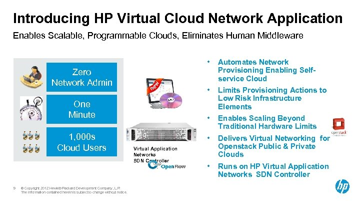 Introducing HP Virtual Cloud Network Application Enables Scalable, Programmable Clouds, Eliminates Human Middleware •