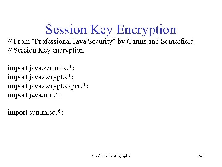 Session Key Encryption // From