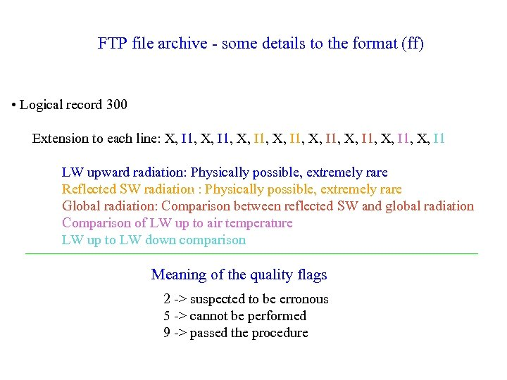 FTP file archive - some details to the format (ff) • Logical record 300