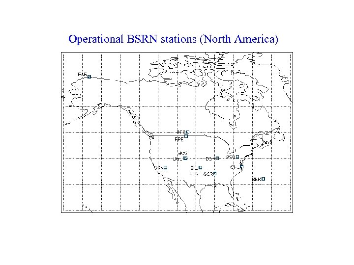 Operational BSRN stations (North America)