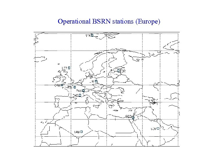 Operational BSRN stations (Europe)