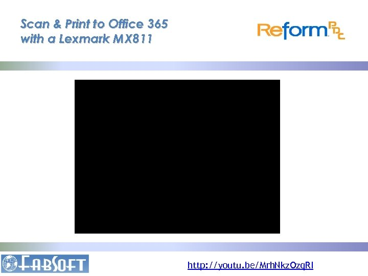 Scan & Print to Office 365 with a Lexmark MX 811 http: //youtu. be/Mrh.