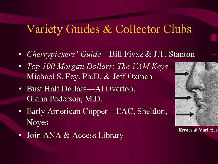 Variety Guides & Collector Clubs • Cherrypickers' Guide—Bill Fivaz & J. T. Stanton •
