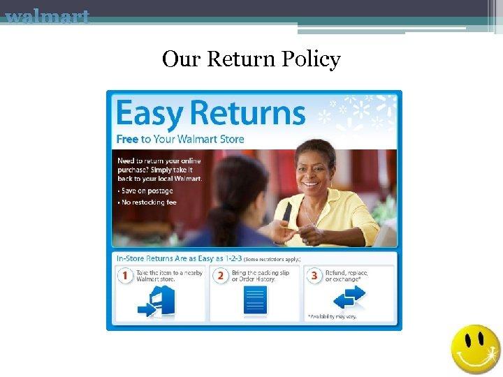walmart Our Return Policy