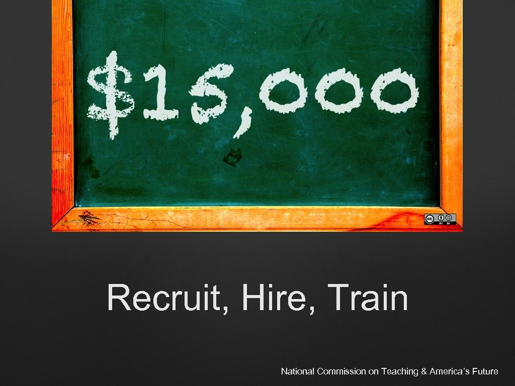 Recruit, Hire, Train National Commission on Teaching & America's Future
