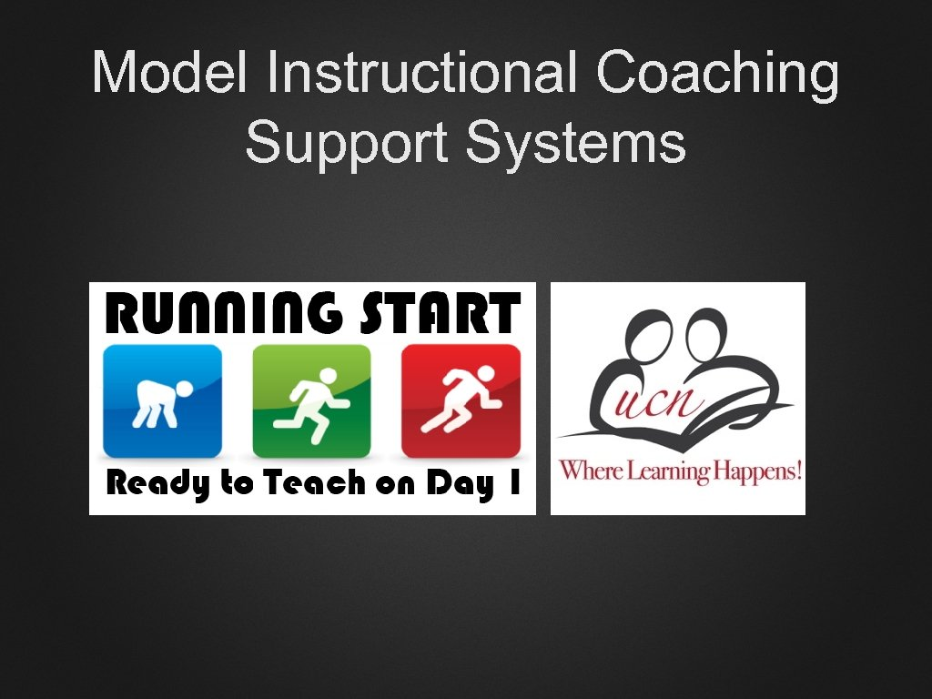 Model Instructional Coaching Support Systems