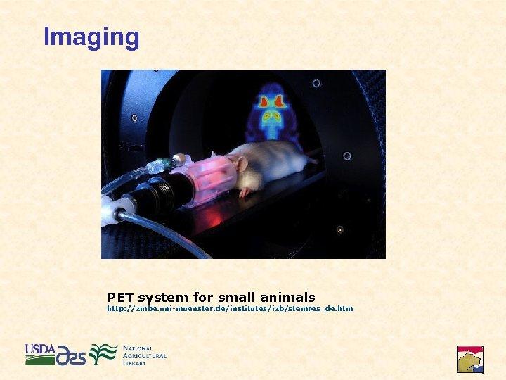 Imaging PET system for small animals http: //zmbe. uni-muenster. de/institutes/izb/stemres_de. htm