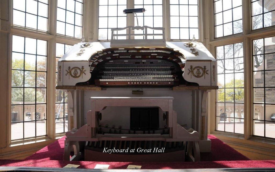 Keyboard at Great Hall