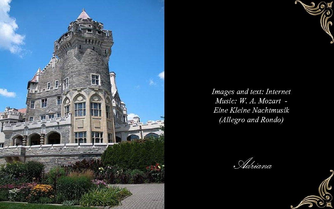 Images and text: Internet Music: W. A. Mozart Eine Kleine Nachtmusik (Allegro and Rondo)