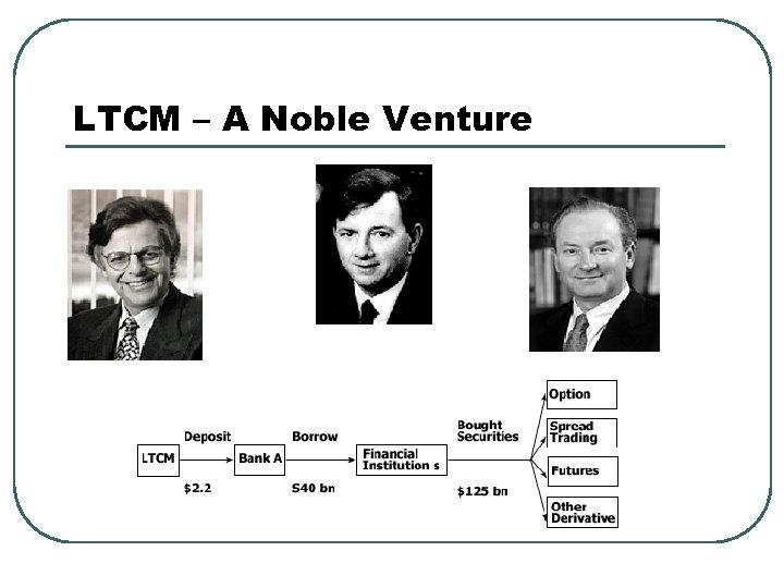 LTCM – A Noble Venture