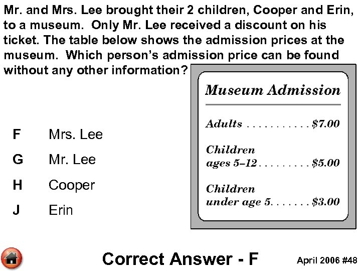 Mr. and Mrs. Lee brought their 2 children, Cooper and Erin, to a museum.