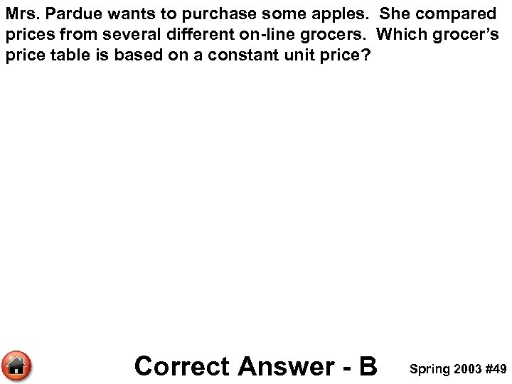 Mrs. Pardue wants to purchase some apples. She compared prices from several different on-line