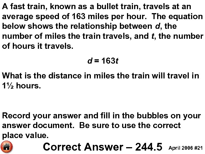 A fast train, known as a bullet train, travels at an average speed of