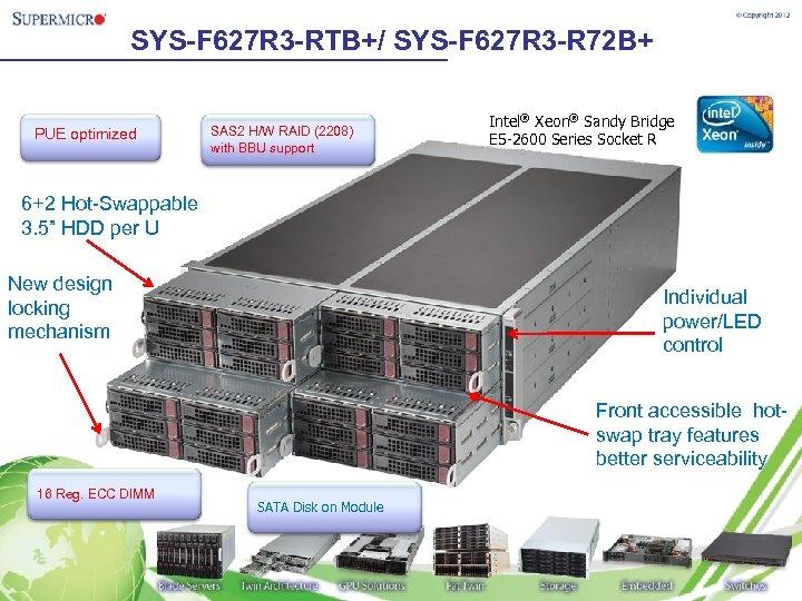 SYS-F 627 R 3 -RTB+/ SYS-F 627 R 3 -R 72 B+ PUE optimized