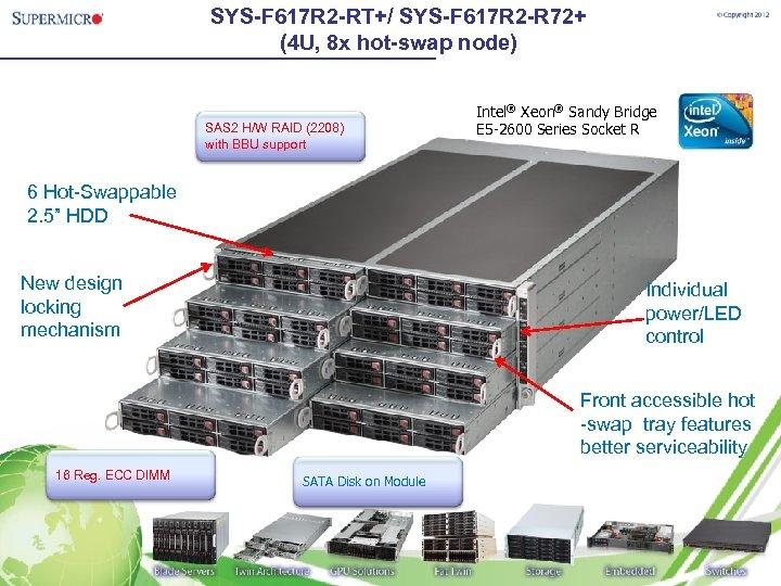 SYS-F 617 R 2 -RT+/ SYS-F 617 R 2 -R 72+ (4 U, 8