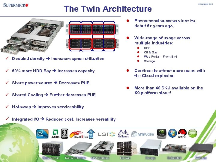 The Twin Architecture l Phenomenal success since its debut 5+ years ago, l Wide-range