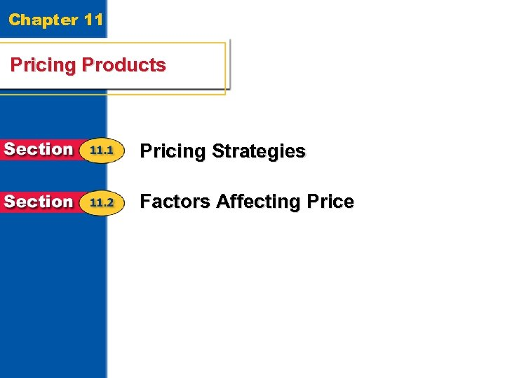 Chapter 11 Pricing Products Pricing Strategies Factors Affecting Price 2