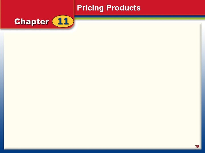Pricing Products 36
