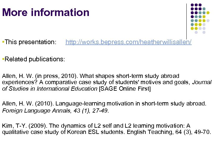 Investigating language learning motivation beyond the classroom