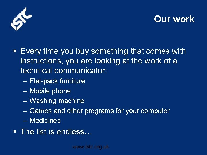 Our work § Every time you buy something that comes with instructions, you are