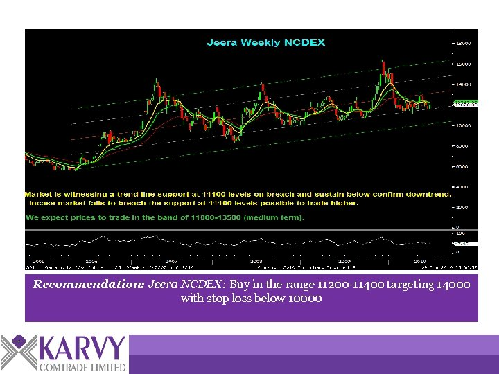 Recommendation: Jeera NCDEX: Buy in the range 11200 -11400 targeting 14000 with stop loss