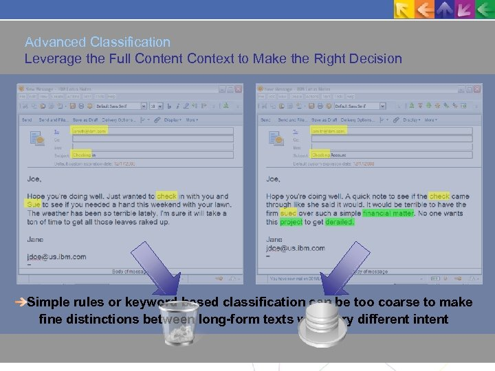 Advanced Classification Leverage the Full Content Context to Make the Right Decision Simple rules