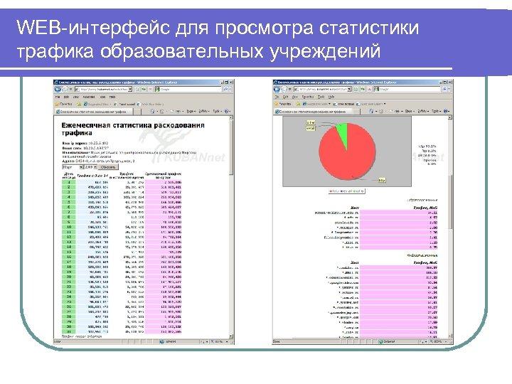 WEB-интерфейс для просмотра статистики трафика образовательных учреждений