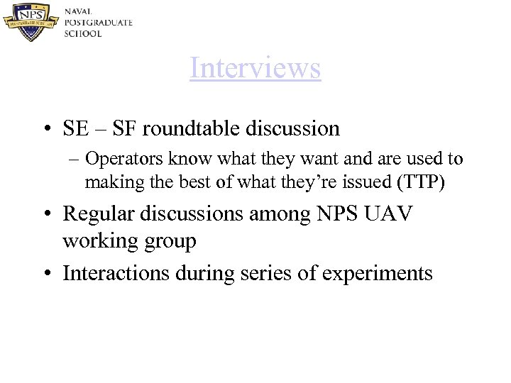Interviews • SE – SF roundtable discussion – Operators know what they want and