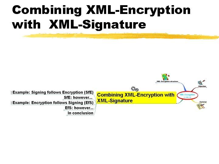 Combining XML-Encryption with XML-Signature