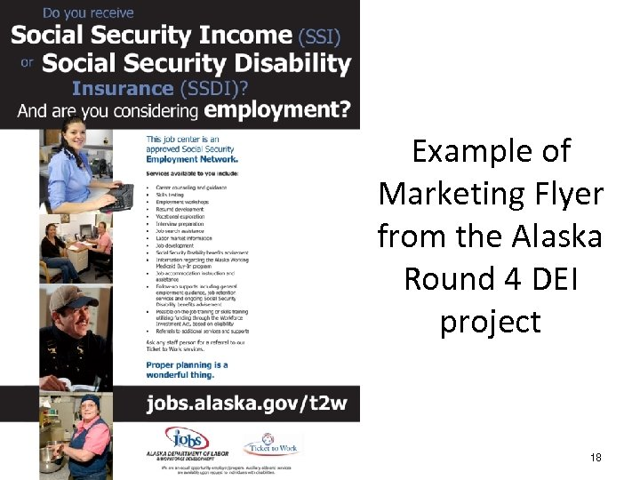 Example of Marketing Flyer from the Alaska Round 4 DEI project # 18