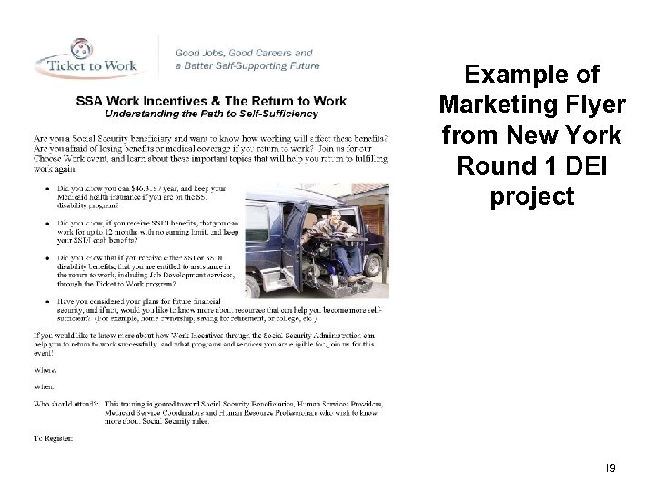 Example of Marketing Flyer from New York Round 1 DEI project # 19