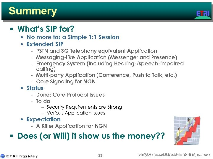 Summery § What's SIP for? • No more for a Simple 1: 1 Session