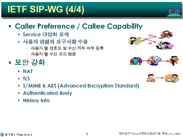 IETF SIP-WG (4/4) § Caller Preference / Callee Capability • Service 다양화 모색 •