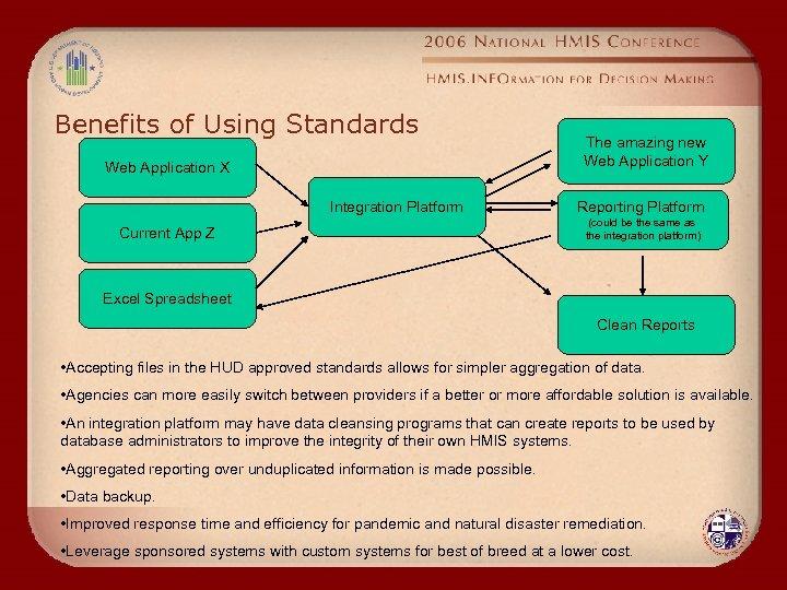 Benefits of Using Standards Web Application X Integration Platform Current App Z The amazing