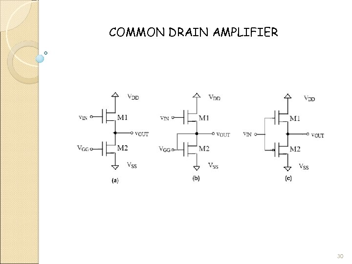 COMMON DRAIN AMPLIFIER 30