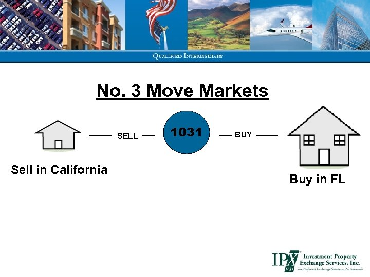 No. 3 Move Markets SELL Sell in California 1031 BUY Buy in FL