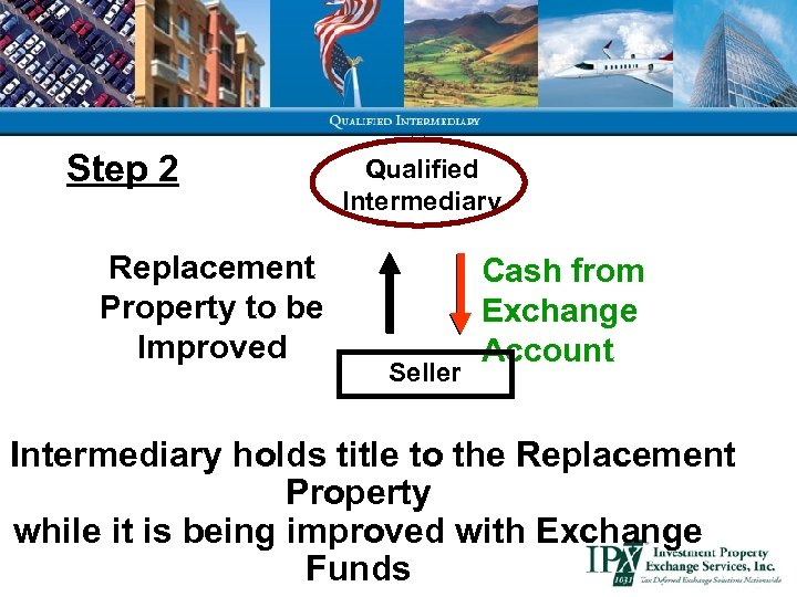 Step 2 Replacement Property to be Improved Qualified Intermediary Seller Cash from Exchange Account