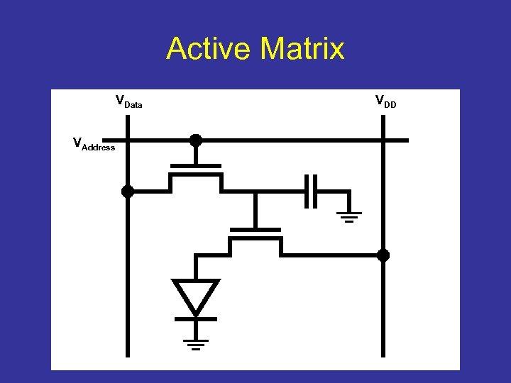 Active Matrix VData VAddress VDD