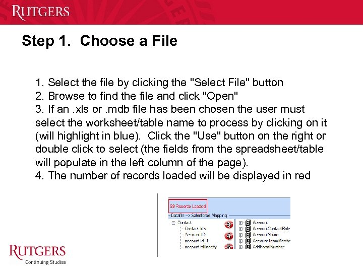 Step 1. Choose a File 1. Select the file by clicking the