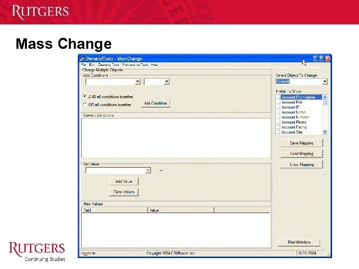 Mass Change Unit Name