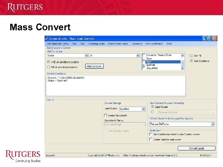 Mass Convert Unit Name