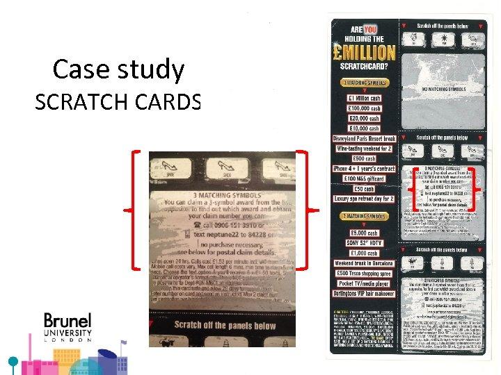 Case study SCRATCH CARDS