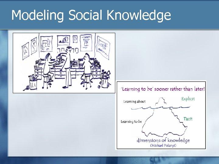 Modeling Social Knowledge