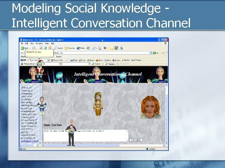 Modeling Social Knowledge - Intelligent Conversation Channel