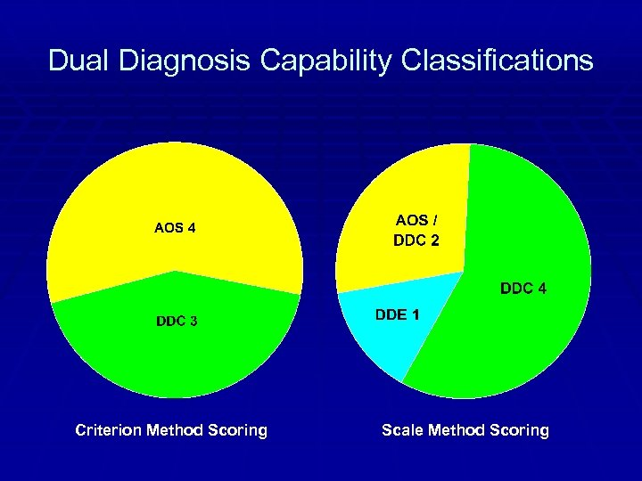 Dual Diagnosis Capability Classifications Criterion Method Scoring Scale Method Scoring
